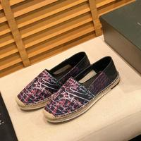Men's summer casual handmade cowhide cloth shoes straw woven sole embroidered luggage bag