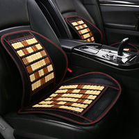 Bamboo Car Waist Cushion Office Breathable Back Cushion Car Back Seat Summer Tournure Waist Support