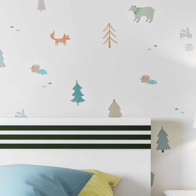 Northern European-Style Graffiti Style CHILDREN'S Room Waterproof Wallpaper Korean Style Cartoon Boys And Girls Room Wall-to-Wal