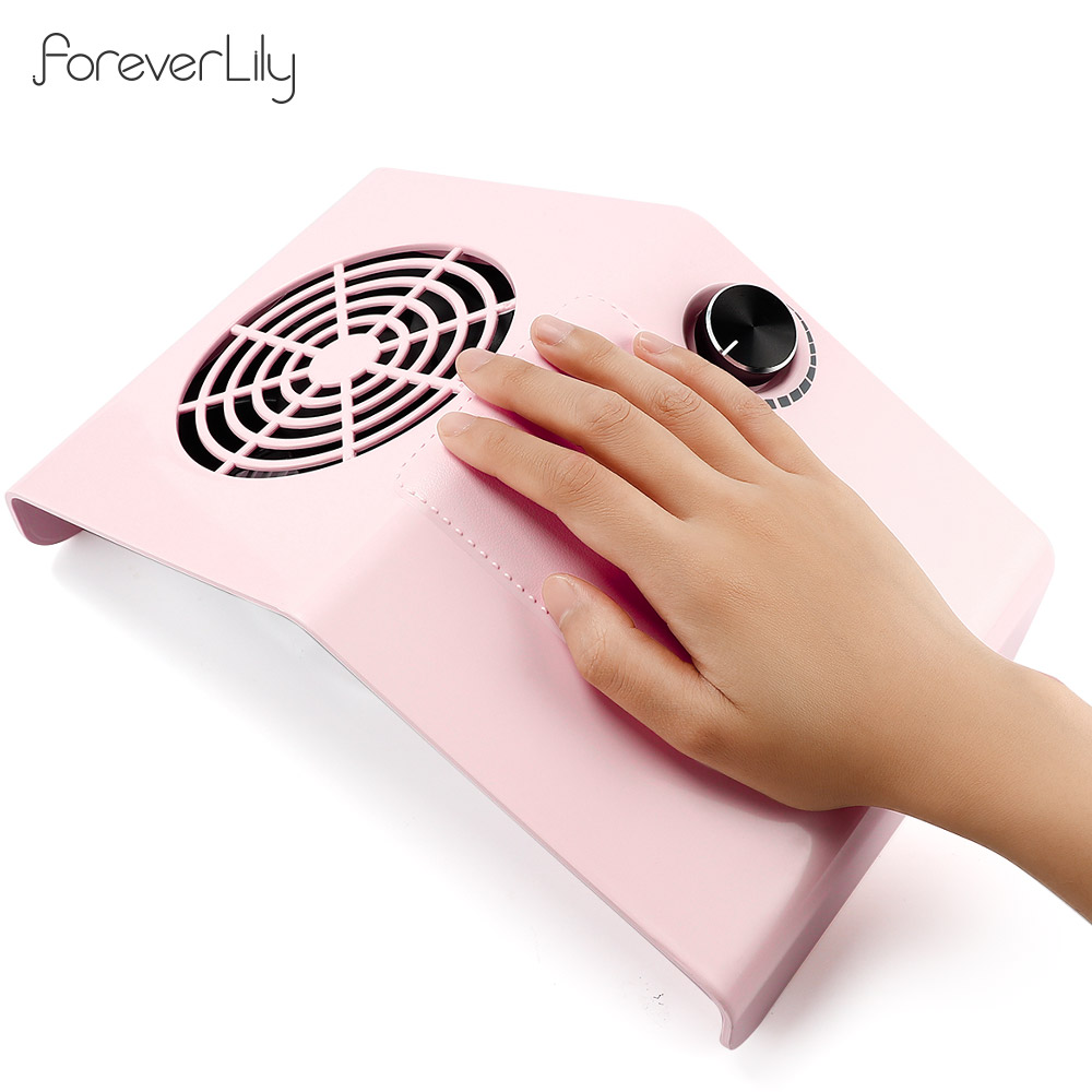 80W Powerful Nail Dust Collector Adjustable Nail Dust Suction Fan Vacuum Cleaner Manicure Machine Nail Art Salon Tool