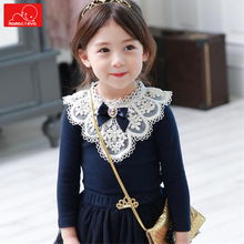 fashion girls spring autumn Lace sweater children cotton knitwear kids  clothing baby girls top clothes toddler sweater 2018 spring autumn girls sweaters fashion cotton preppy kids knitwear sweater pullovers children clothes 4 6 8 10 12 13 years