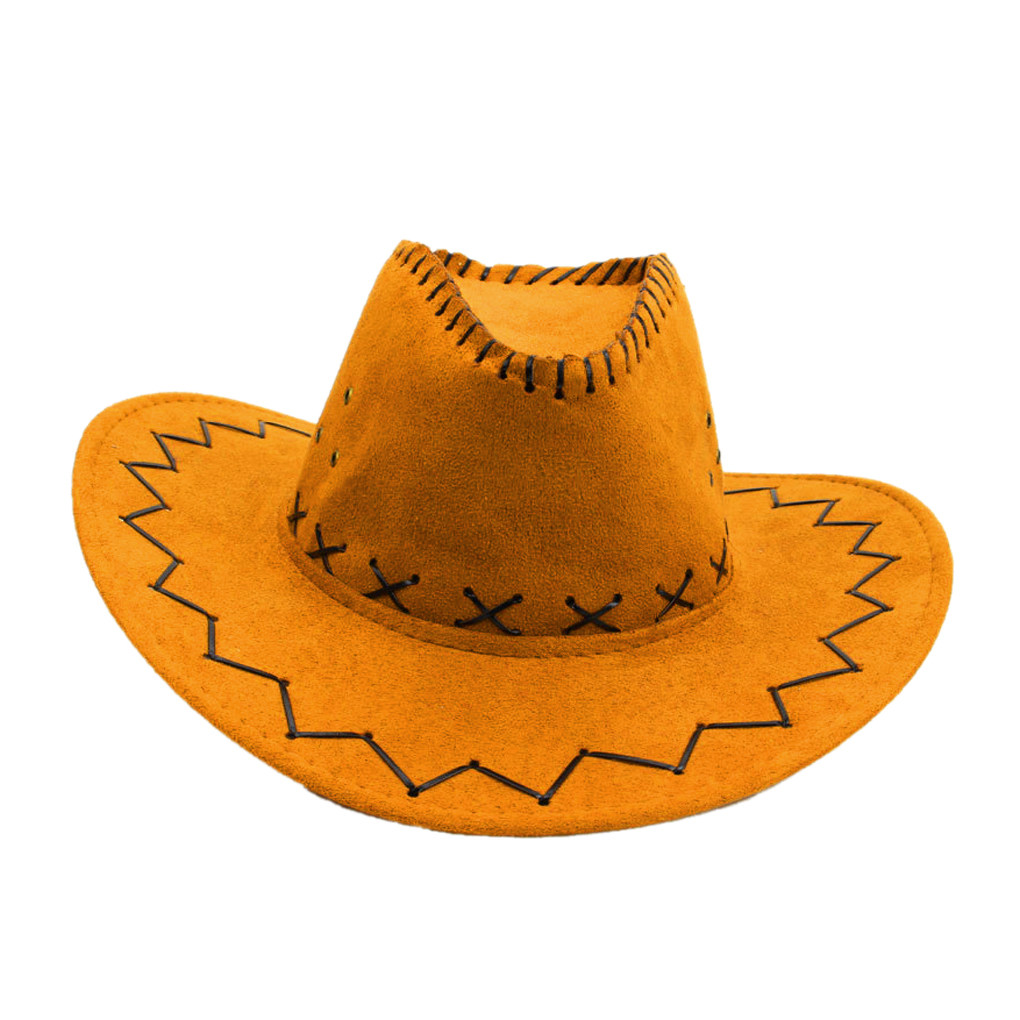 Yourgod Unisex Adult West Cowboy Hat Mongolian Hat Grassland Sunshade Cap Outdoor Travel Vintage Summer Fashion Classic Cowboy Hat