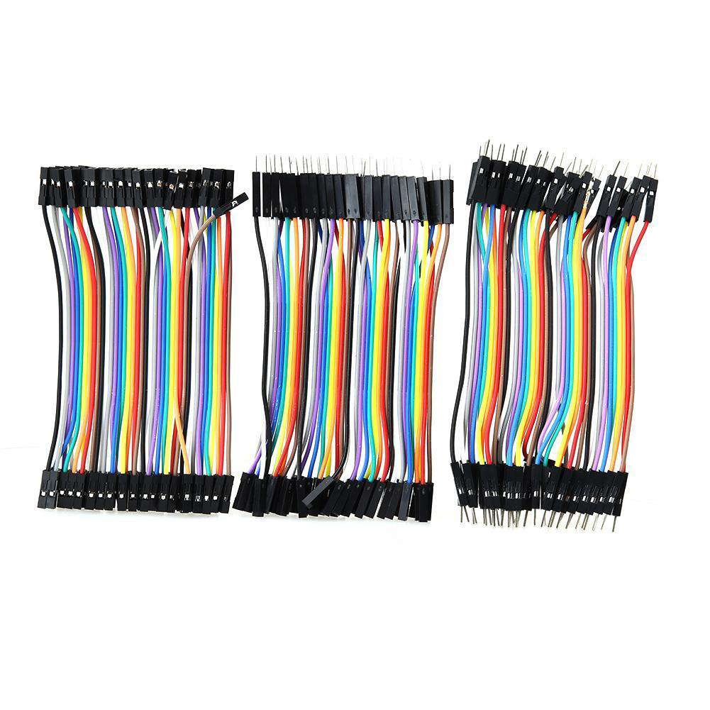 120 Pcs Good Male-Female Dupont Wire Jumper Cable For Arduino Breadboard 11cm