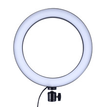 Dimmable LED Studio Camera Ring Light Mobile Phone Live Photography Self-timer Lamp Stepless Dimming ring LED Beauty Fill Light(China)
