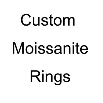Custom moissanite ring, please contact us before purchase