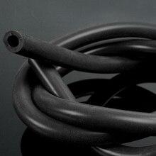"""6 мм 1/"""" ID полный Силиконовый топливный/Воздушный вакуумный шланг/линия/труба 1 метр черный внутренний диаметр: 6 мм* наружный диаметр: 8 мм"""