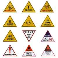 Tin Metal signs Triangle Poster Bedroom Stickers Decor Iron Retro Plaques