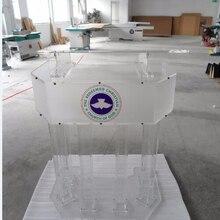 Lectern Church Platform Perspex Plexiglass Acrylic Podium Big Three-Tier