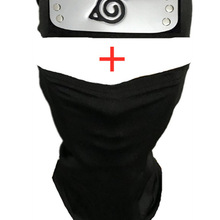 Headband Anime Mask Weapon-Accessories Arms-Props Naruto Halloween-Costume Hatake Kakashi