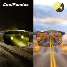 CoolPandas Unisex Night Vision Glasses Photochromic Sunglasses Polarized Driving Men Yellow Lens Anti-Glare Goggle Eyewear UV400