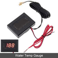 New 12V / 24 V Universal  Digital Display Anti-shake Water Temp Gauge  Replacement with Sensor  Suitable for Car / Truck