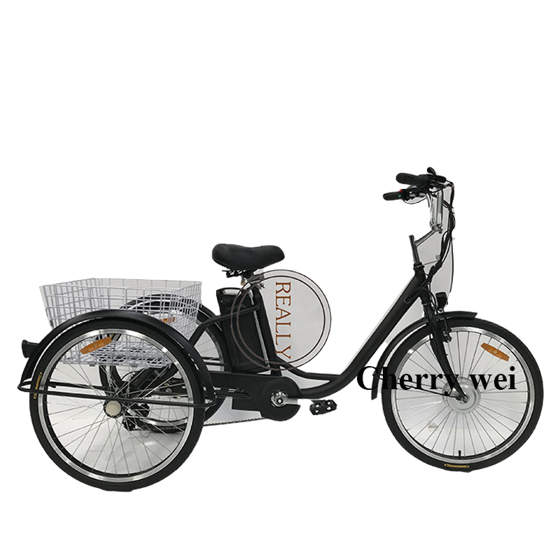 250 W Motor Electric 6 Speed Adult Tricycle Bike In France Electric Tricycle Adult Tricycle Chinese Tricycle
