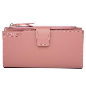 2020 New Fashion Women Wallet Soft PU Leather Zipper Wallet Long Women's Clutch Wallet Female Designer Coin Card Purse Black
