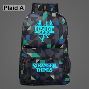 Image 2 - Luminous Stranger Things Bicycle Demogorgon Galaxy Lightning Children School bag Teenagers Student Schoolbags Women Men Backpack