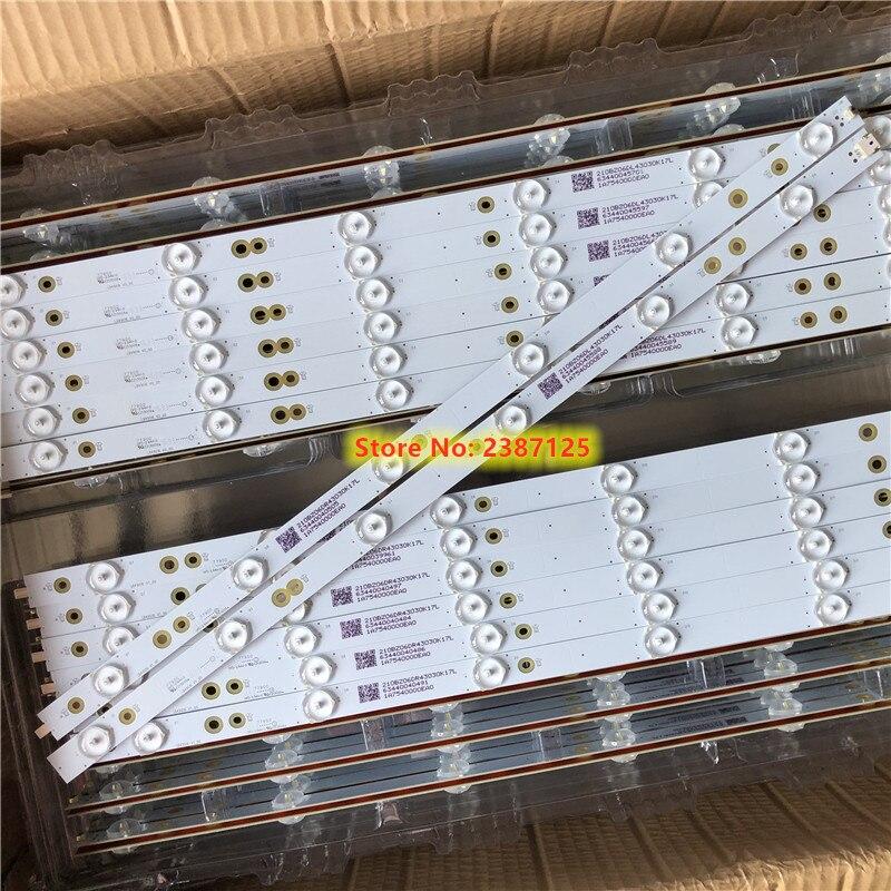 14 шт. светодиодный подсветка полосы для LB49016 V1_00 GJ-2K16-490-D712-P5-R/L 01N21 01N22 TPT490U2 49PUS6401 49PUH6101 49PUS6762 49PUS6272