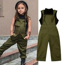 2-7Y комплекты одежды для маленьких девочек черный жилет без рукавов с высоким воротником Топы+ женский комбинезон, штаны летняя одежда