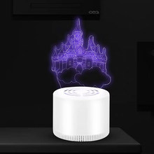 UV Catch Fly Mosquito Killer Lamp 3D Insect Trap Bug Zapper Electric Suction Type Household Office Baby Room LED Light USB Power(China)