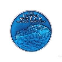 Титаник остаточная оболочка памятные монеты рабочего дисплея украшения ремесла