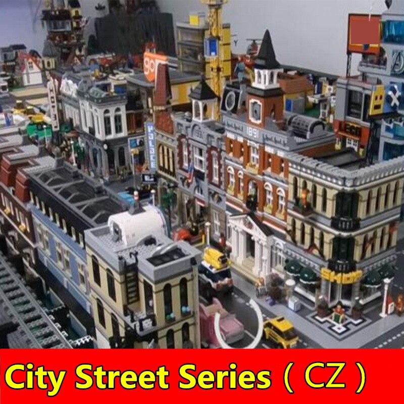 City Street View Creator Expert 15002 15003 15004 15005 15009 1600116060 16007 building block 10211 10197 10224 10228 71043 toy