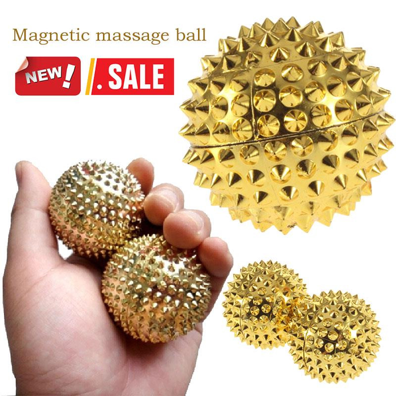 Hand Massage Ball Body Acupressure Magnetic Spiky Massage Acupuncture Pain New عصا مساج ABS + Magnetic Ore массажер  12.30