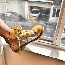 New Women Leather Boots PVC Transparent Square Heeled Short Boots Women Shoes Brand Peep Toe Bootie Ins Slender boots(China)