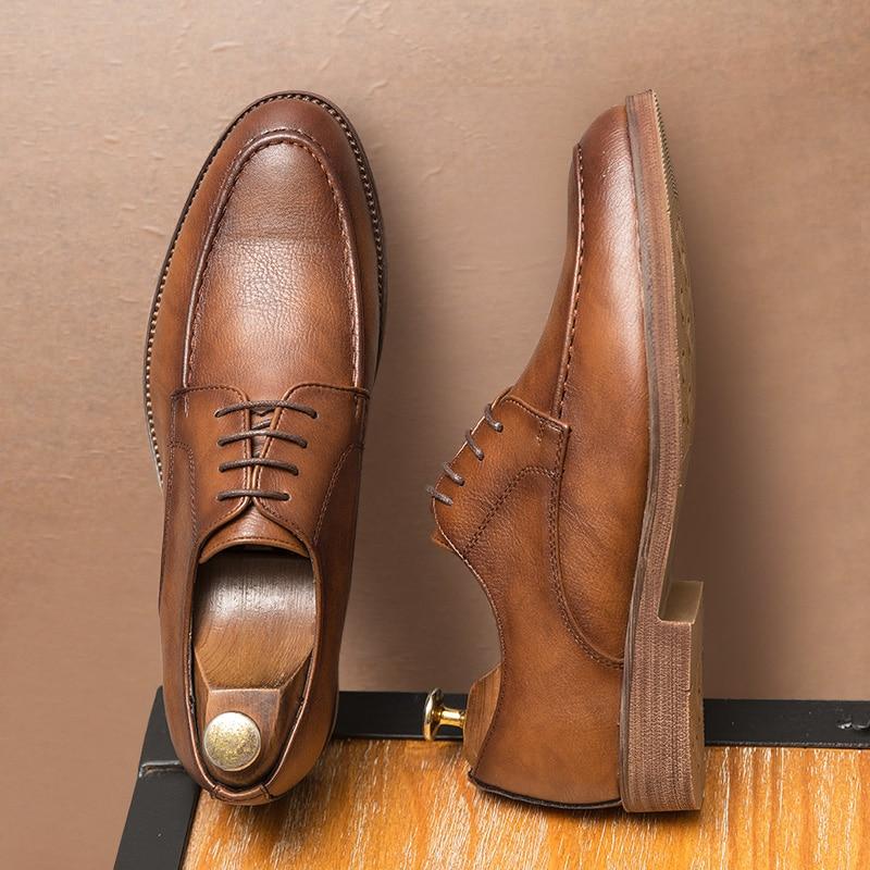 Merkmak 2020 sapatos casuais de couro do plutônio dos homens preto vestido sapatos masculinos oxford calçados mocassins sapatos de festa alta qualidade