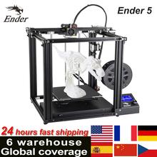 Creality drukarka 3D Ender-5 Ender-5 PRO Ender-5 PLUS drukarka 3D zestaw DIY Max 180 mm s z bezpłatną kartą TF 8GB i filamentem PLA 200g tanie tanio Creality 3D Ender-5 3D printer CN (pochodzenie) 1 75mm 80mm s 0 1-0 4mm Chinese English 200mm s PLA ABS TPU Copper Wood Carbon