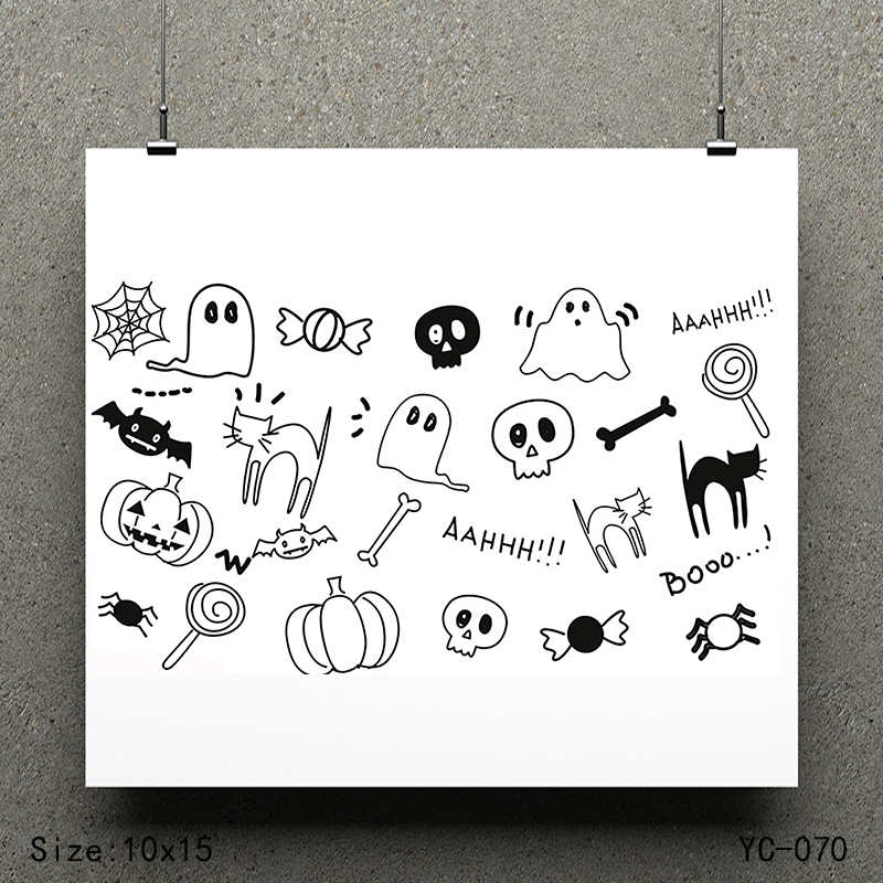 ZhuoAng Little ghost model Clear Stamps For DIY Scrapbooking/Card Making Decorative Silicon Stamp Crafts
