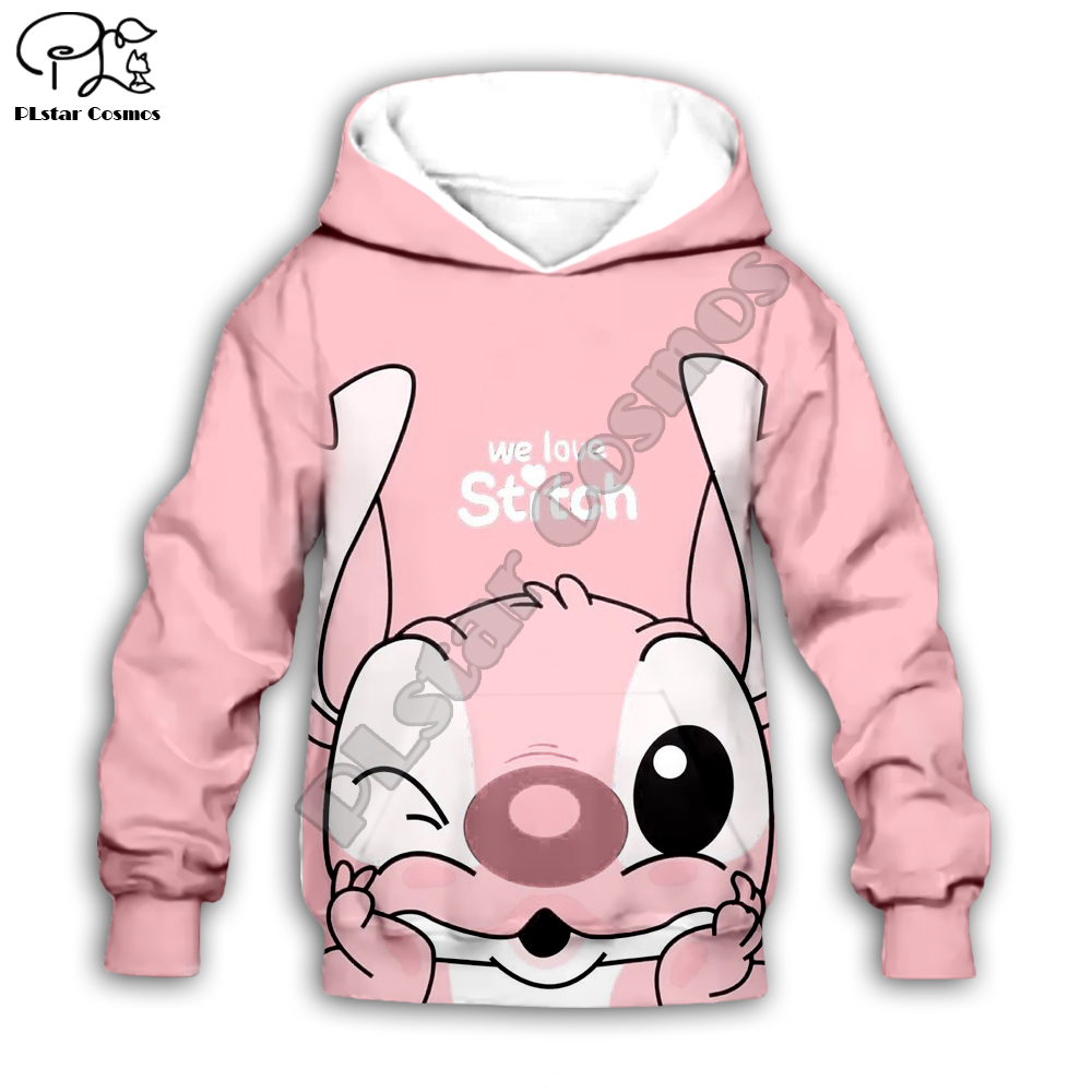 Kids Cloth Anime Kawaii Lilo Stitch 3d Hoodies/tshirt/boy Sweatshirt Cartoon Hot Movie Pant Style-6