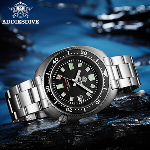 Image 3 - ADDIES Abalone Men NH35 Automatic Dive Watch 200M Waterproof Sapphire Crystal Stainless Steel  Mechanical Mens Watch