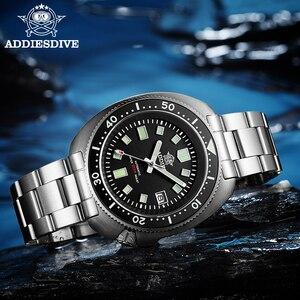 Image 3 - ADDIES Abalone גברים NH35 אוטומטי צלילה לצפות 200M עמיד למים ספיר קריסטל נירוסטה מכאני גברים של שעון