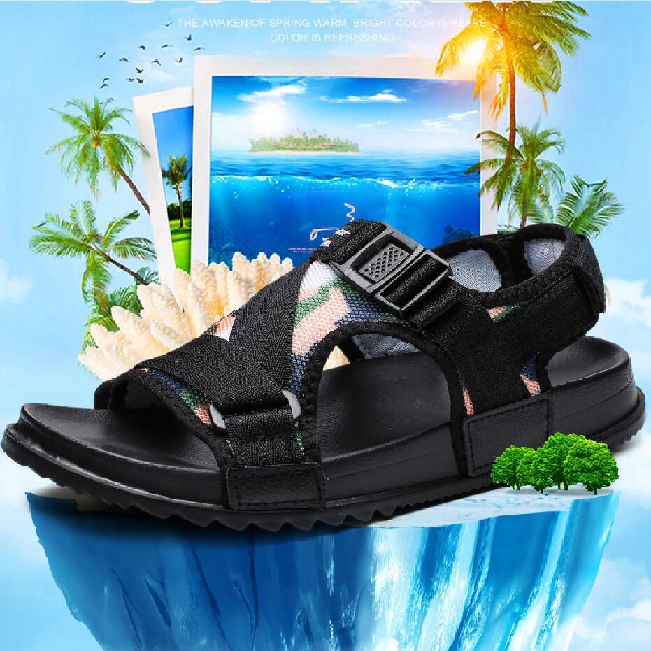 Men Sandals Casual Shoes Outside Breathable Mens Sandals Summer Comfortable Light Sandalias Hombre Plus Size 46 45 11 10.5 Flats