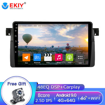 EKIY DSP 4G 64G Android 9 Autoradio For BMW E46 M3 Rover 75 MG ZT Car Multimedia Video Player GPS Navigation Stereo Tape Recoder image