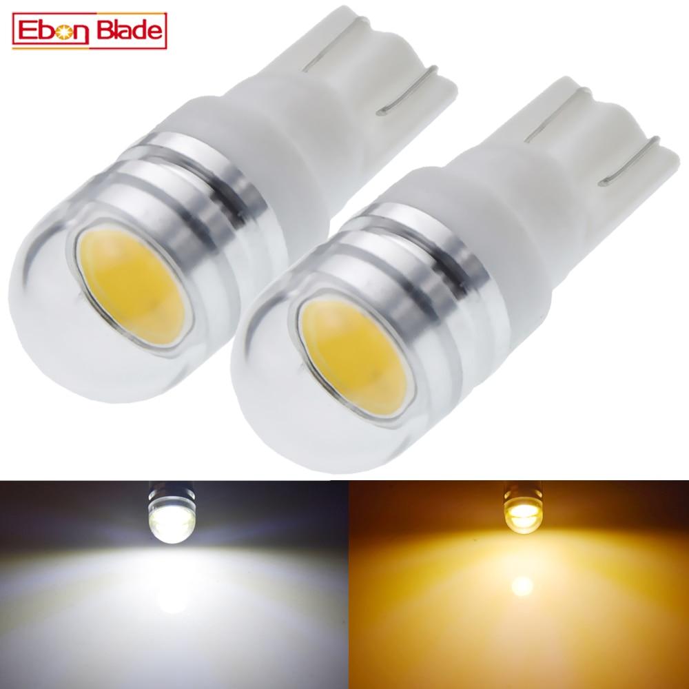 2 x T10 W5W светодиодная лампа, теплый белый свет 6 V 6,3 V 6 вольт 12В классический интерьер автомобиля клиновидные боковые светильник скутер мото и...