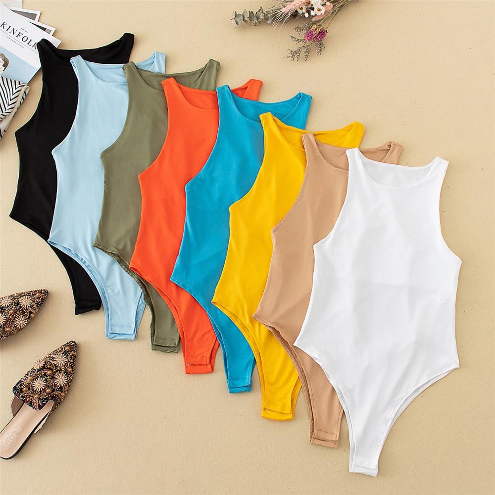 2021 neue Sommer Herbst Jumper Körper anzug Frauen Casual Sexy Schlank Strand Overall Romper Mädchen Body Solide Marke Anzug