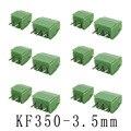Штекерный винтовой клеммный блок для кабеля диаметром 3,5 мм, 2 контакта, 3 контакта, разъем KF350 300 в 10 А для кабеля AWG 24-18