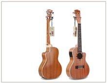 NEW 24-inch mini travel guitar Electric box Fully enclosed Ukulele 4-string Mahogany guitar musical instrument