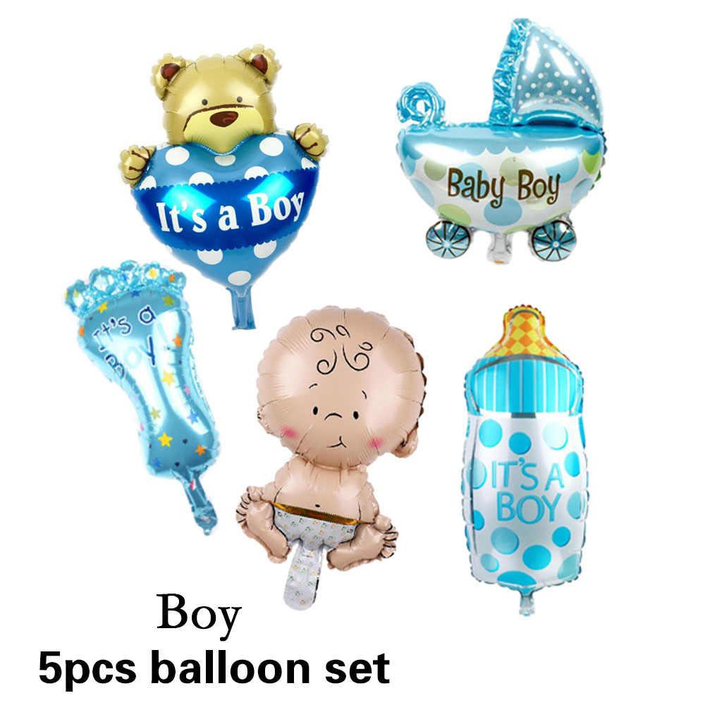 Mini globo de película de aluminio de Navidad de dibujos animados niña niño Princesa para fiesta de bienvenida del bebé adornos navideños para el hogar Decoración