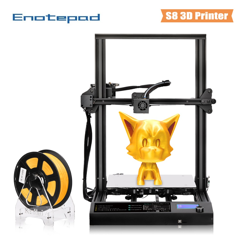 Enotepad 3D Printer 310x310x400mm Printing Size 2year warranty Works with 3d Filament support PLA/PETG/TPU/ABS print
