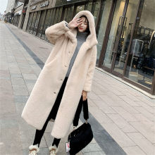 New Autumn Winter Fur Coat Women Clothes High Quality Imitation Mink Fur Hooded Plus Size Thicken Warm Long Coats Female(China)