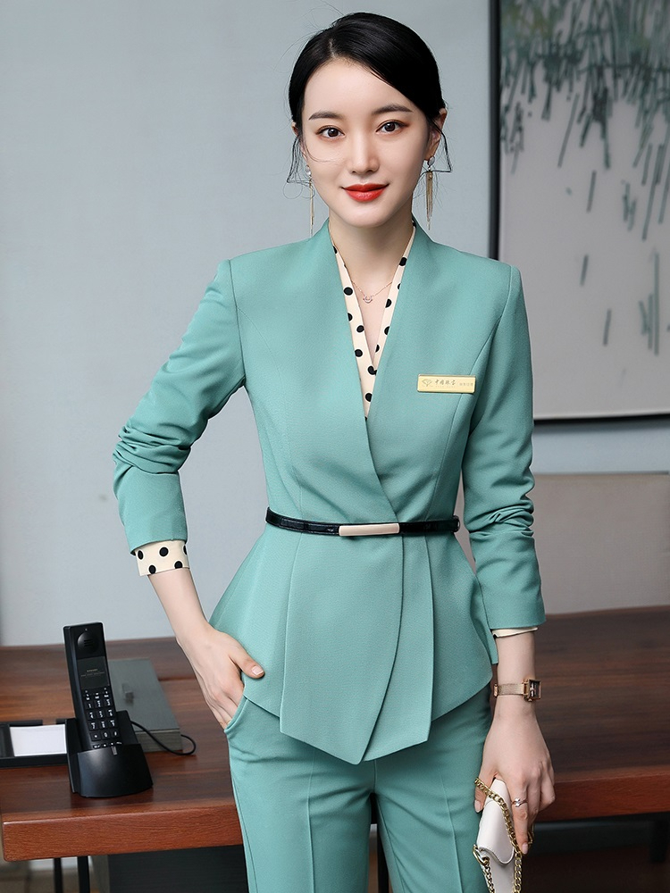 2020 Autumn Winter Formal Uniform Designs Women Business Suits with Tops and Skirt OL Styles Professional Interview Blazers Set