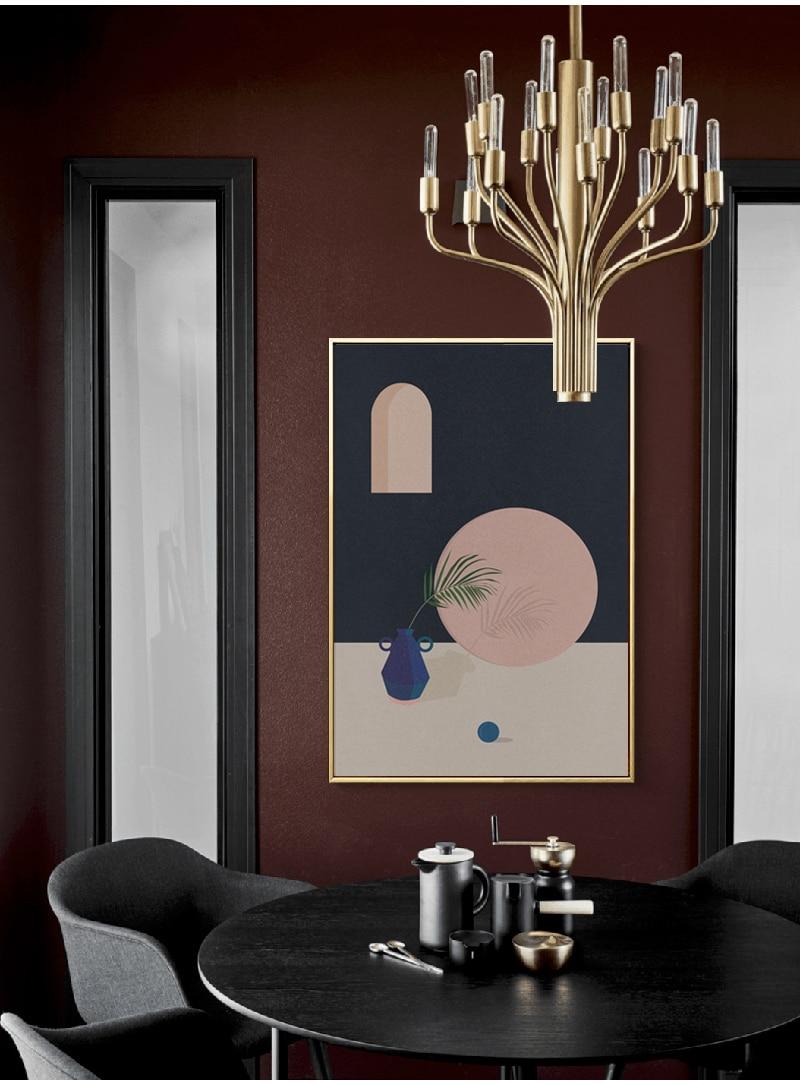 pintura abstrata moderna retro decoração casa pintura