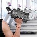 Большая бутылка для воды Capcity, Пластиковый шейкер с ручкой, 1 л/1,5 л/2,2 л, для занятий спортом, фитнесом, бегом, тренировками