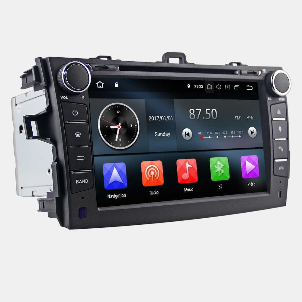 Eunavi 2 din tda7851 アンドロイド 9 車の dvd トヨタカローラ 2007 2008 2009 2010 2011 ips タッチスクリーンの gps ナビラジオ 4 ギガバイト 64 ギガバイトの DSP