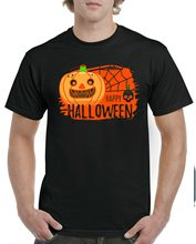 Happy Halloween Pumpkin T-Shirt,Skull, Spider Web,Haunted Adult And Men Tee Top T-Shirt Custom Special Print(China)
