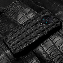 цена на LANGSIDI Luxury Crocodile phone case For Xiaomi POCO F2 MI 10 Pro note 10 9lite Redmi K30 PRO Note 9s Genuine leather back cover