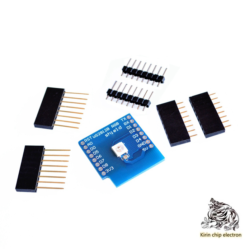 5pcs/lots2812 RGB Full Color Module FOR D1 Mini WIFI Expansion Board Learning Board Rgb Driver Module