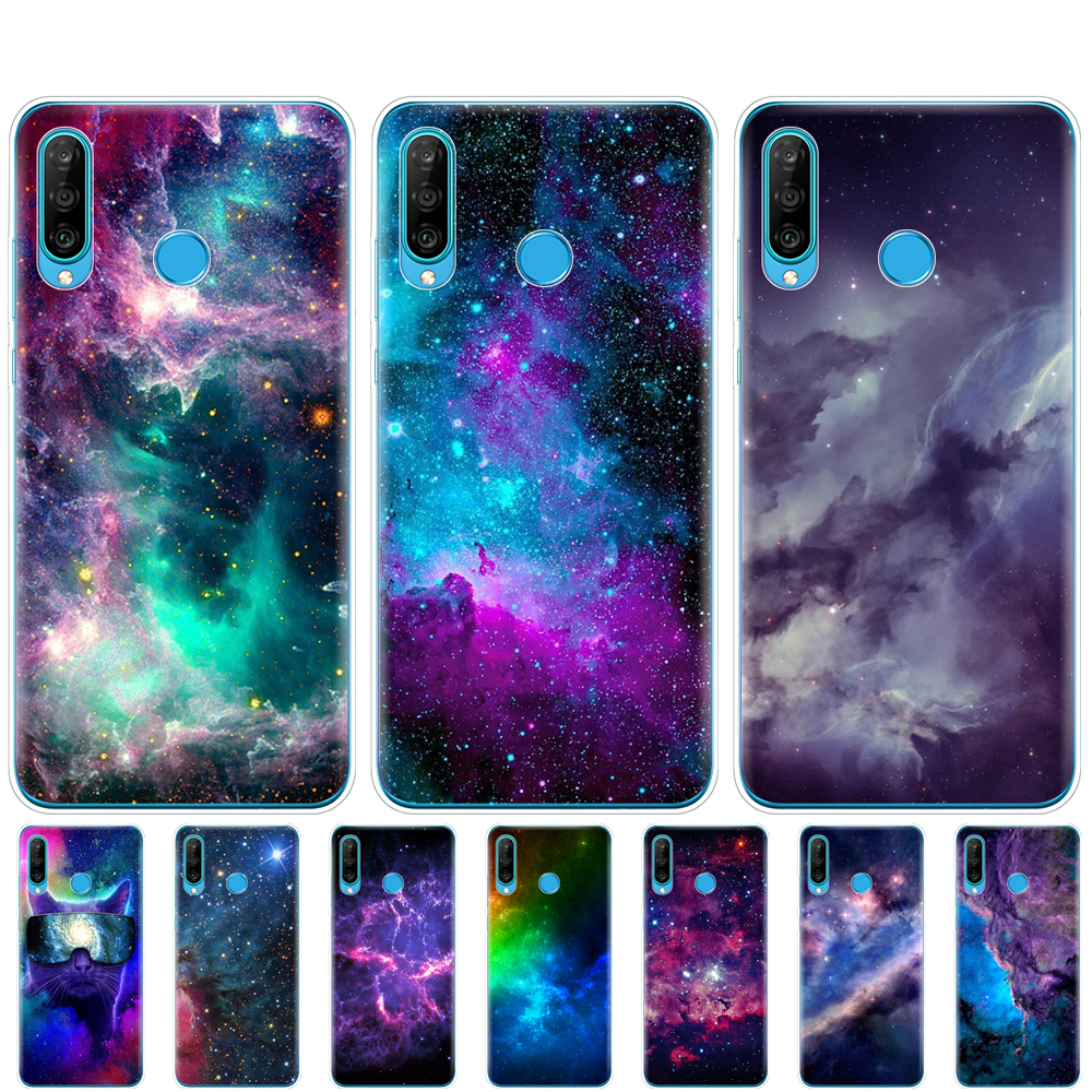 <font><b>silicon</b></font> <font><b>case</b></font> for <font><b>HONOR</b></font> 20 lite view 30 v 30 pro cover for huawei <font><b>honor</b></font> 20S 9X Premium <font><b>7s</b></font> 8a colorful space for galaxy universe image