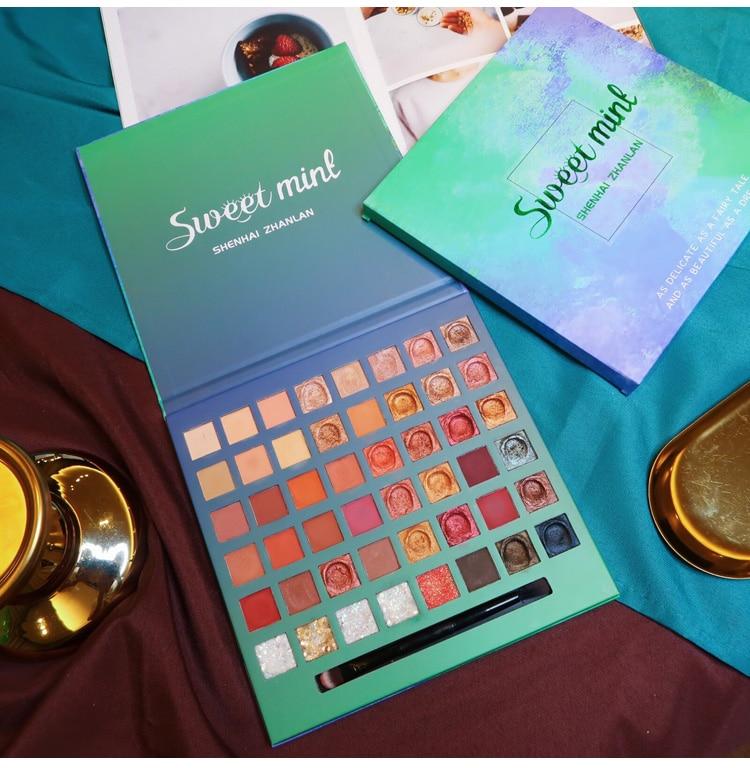 Paleta matte shimmer sombra paleta 48 cores