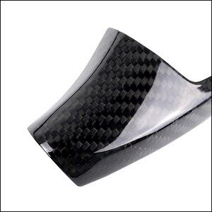 Image 4 - De fibra de carbono pomo de palanca de cambios manga cubre Botón de pegatinas para BMW F20 F30 F32 F10 F25 F15 F16 Interior accesorios RHD LHD